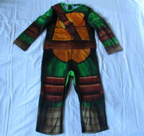 strój karnawałowy wojowniczy żół ninja 98-104, 3-4 l George