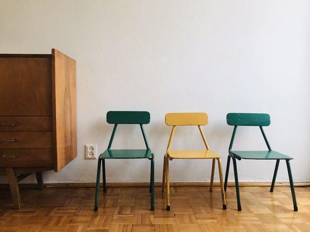 OSTATNIE 2 szt VINTAGE stare krzesełko dzieciece przedszkolne PRL
