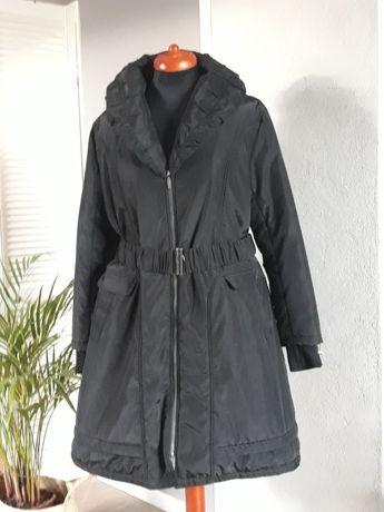 Czarny płaszcz roz.48, 50 , XXL