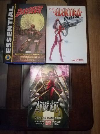 Komiksy Marvel DC elektra avengers daredevil