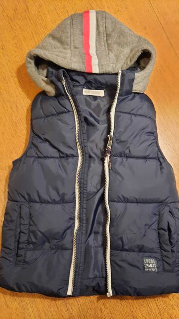 Kamizelka z kapturem ciepła, rozmiar 128 firma H&M dla chłopca