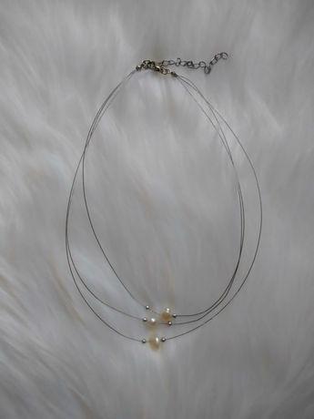 Potrójny łańcuszek z perełkami