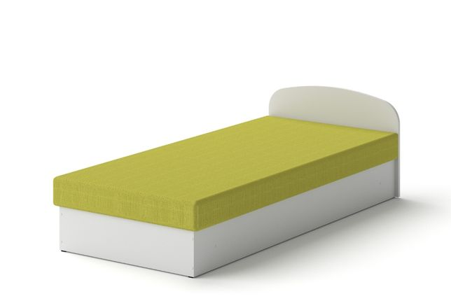 Łóżko hotelowe 90 x 200 Biały tapczan z materacem