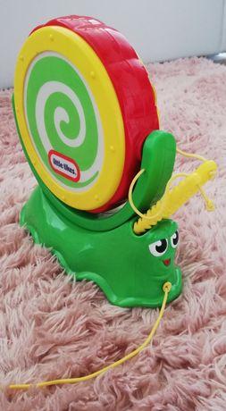 Zabawka ślimak muzyczny cymbałki bębenek Little Tikes
