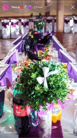 Свадебные аксессуары/ скатерти,стол молодых/сладкий стол
