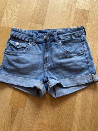 Spodenki jeansowe denim, rozm XS 34 HM