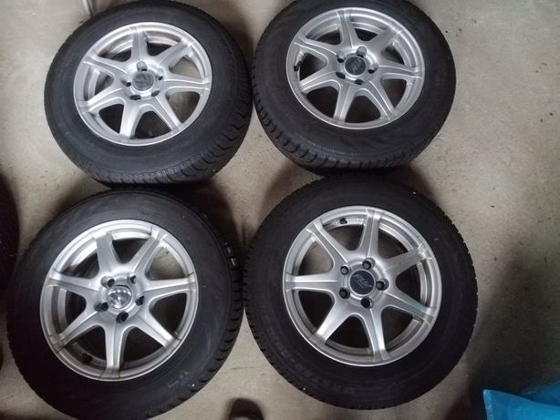 Alufelgi 14 5x100 VW, Skoda, Audi opony zimowe