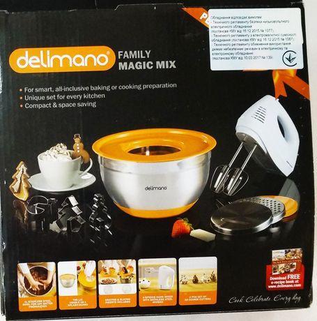 Миксер ручной с чашей Delimano Famili Magic Mix