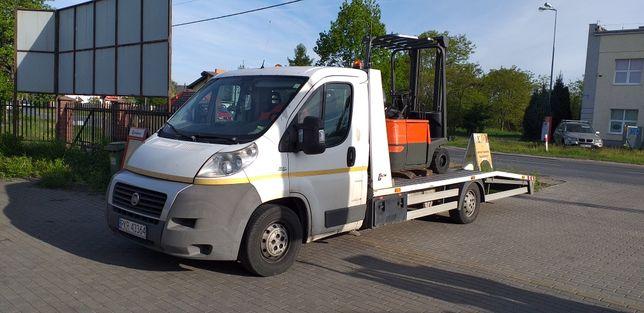 Pomoc Drogowa Holowanie Auto Laweta Transport Aut Maszyn Mini Koparek