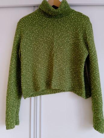 Wloski sweter z golfem Sisley