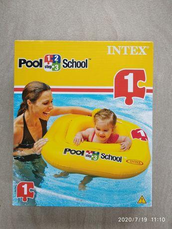 INTEX Koło do nauki pływania fotelik oparcie