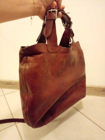 Carmel shopper bag xxl skóra naturalna