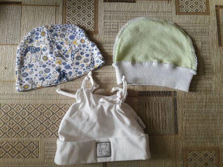 Детские шапочки, чепчики для новорожденого в роддом