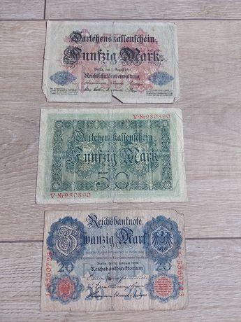 Banknoty stare Niemcy 1914r