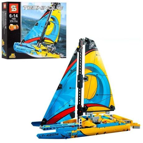 Конструктор SY7000 (18шт) 2в1, лего парусник, 370дет lego technic
