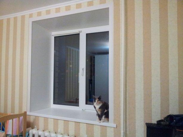 Теплые откосы(сендвич-панель) на окна и двери.Недорого.Фальш-коробки