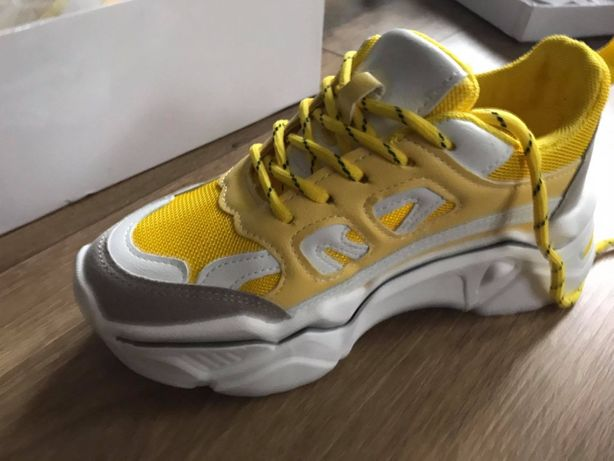 NOWE buty sportowe - rozm. 35. Piękne, żółte, z Shein.