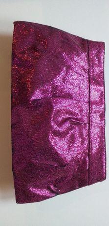 Kopertówka torebka H&M cekiny różowa