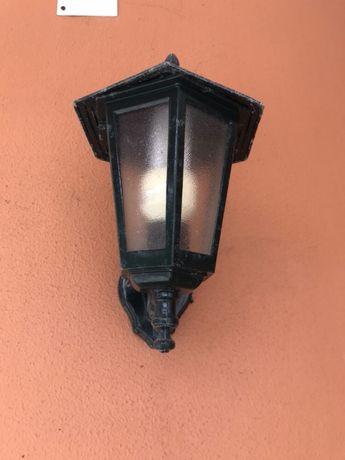 6 Candeeiros Lanterna de Exterior + Lâmpadas Economizadoras