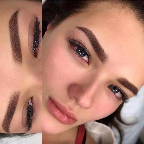Татуаж Перманентный макияж Пудровые брови Обучение