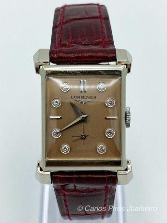 Relógio Longines Ouro Branco e Diamantes Vintage 1954