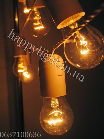 15 м 31 лампа. Ретро Лампочки УЛИЧНЫЕ Крупные! LED гирлянда. Белтлайт