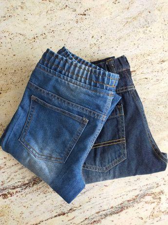 2 pary spodni jeans rozmiar 134 chłopiec
