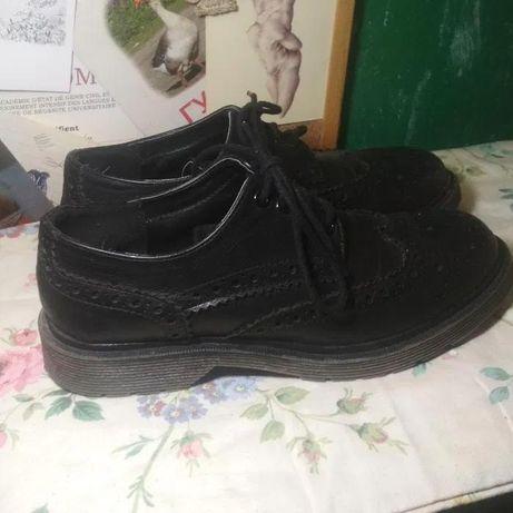 Кожанные туфли оксфорды