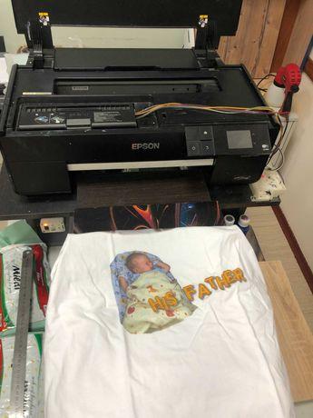 Текстильный Планшетный принтер (DTG) на базе Epson SureColor SC-P600