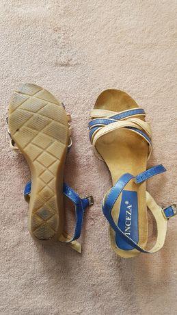 Sandały Vinceza r 39 beżowo-niebieskie