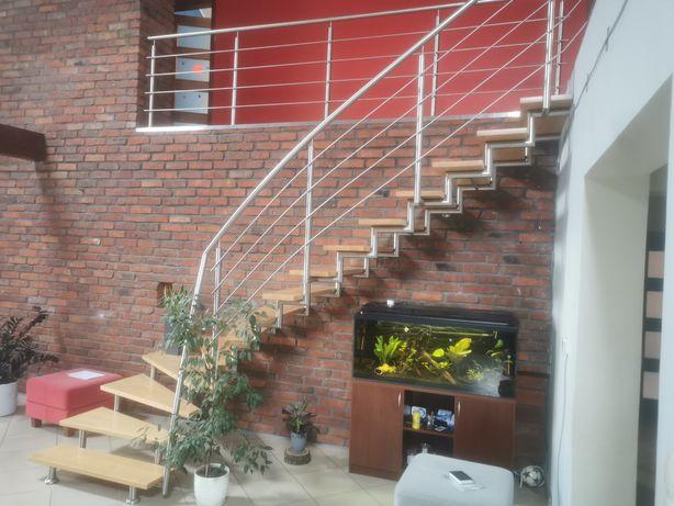 Schody balustrada stal nierdzewna