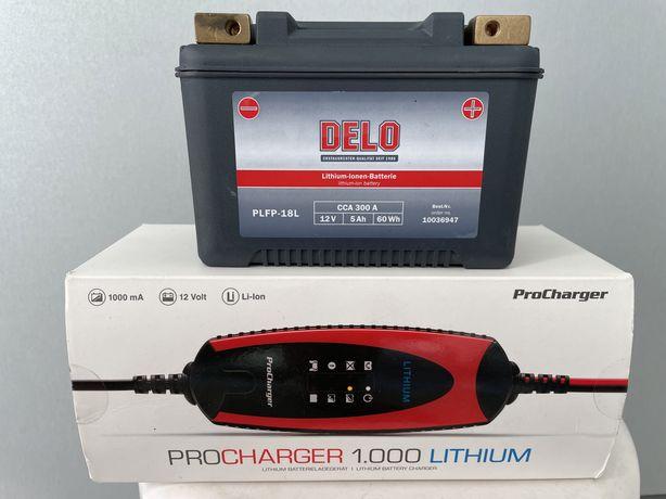 Bateria Harley 12V/5AH 300CCA Litio + Carregador