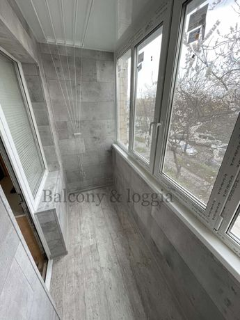 Балкон с расширением под ключ Остекление Обшивка внутри Утепление
