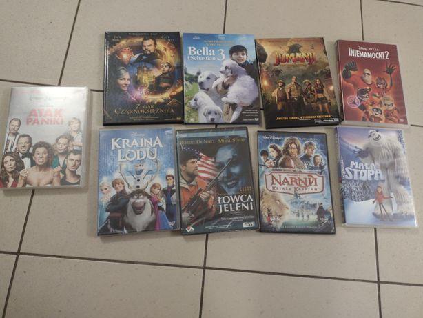 dziewięć filmów na DVD