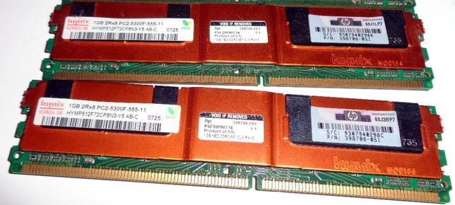 Серверная память Hynix DDR2 1 GB 2Rx8 PC2-5300F-555-11