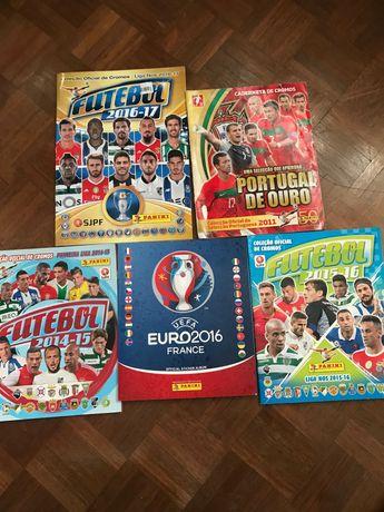 cadernetas futebol