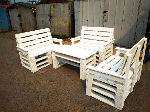 Мебель из поддонов, лавочки, диваны, столы