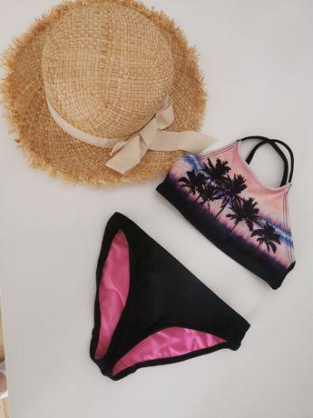 Piękny strój kąpielowy bikini i kapelusz Zara 98-104 Jak nowe