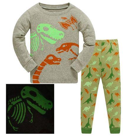 Пижама светящаяся динозавр, рисунок светится в темноте