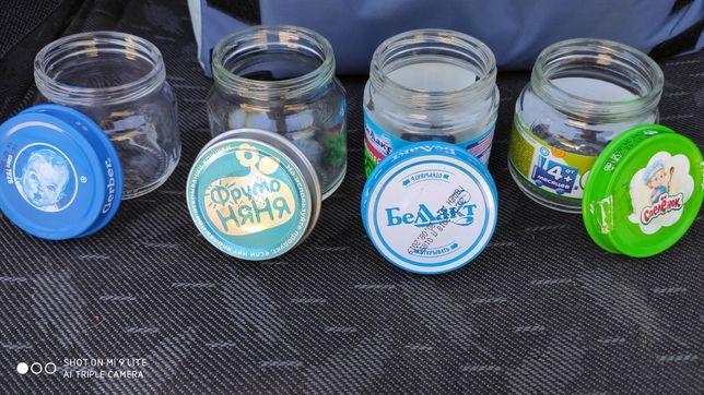 Продам стеклянные баночки с детского питания