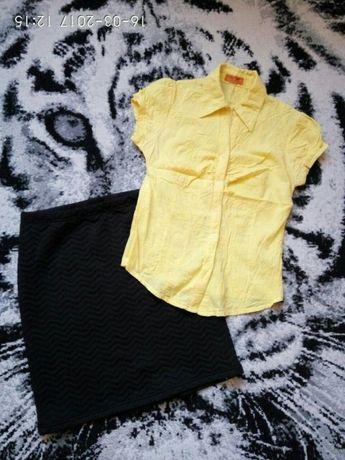 Zestaw r.M/38 nowa spódnica bluzka koszula wiosenny zestaw spodniczka