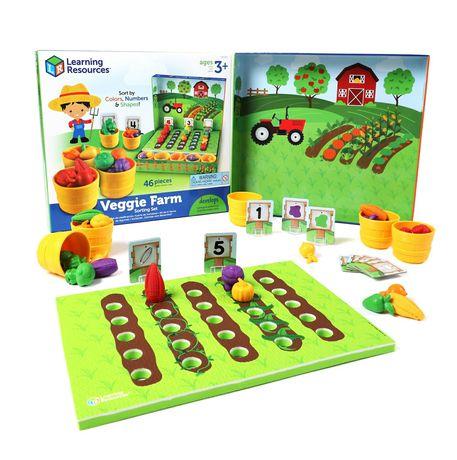Обучающая игра-сортер Learning Resources Veggie Farm-Умный фермер