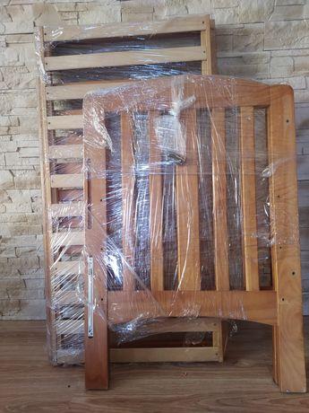 Łóżeczko drewniane dziecięce