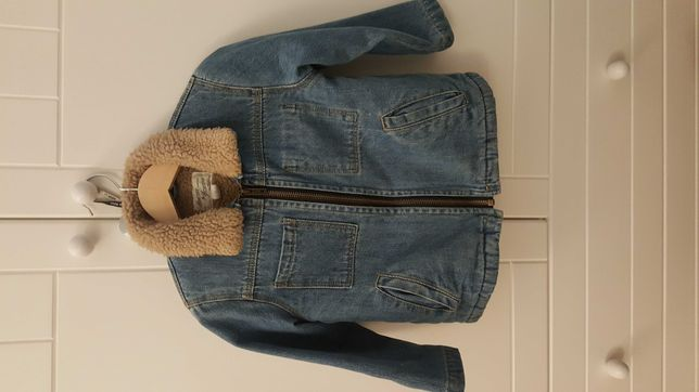 Zara kurtka jeansowa r 98 ciepła