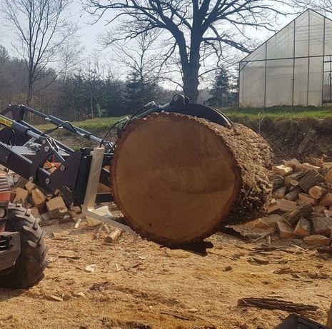 Do ciągnika chwytak do bali drewna kłód gałęzi paleciak NOWY