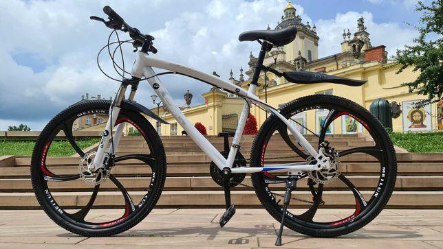 """Горный велосипед BMW BLACK WHITE на литых дисках 26""""17' N0115"""