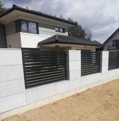 Ogrodzenia kompleksowo - panelowe, palisadowe, zdobione, sztachety