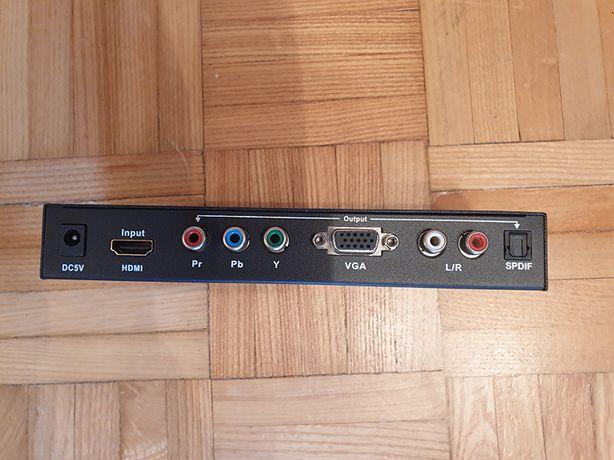 Konwerter sygnału HDMI do YPbPr/VGA