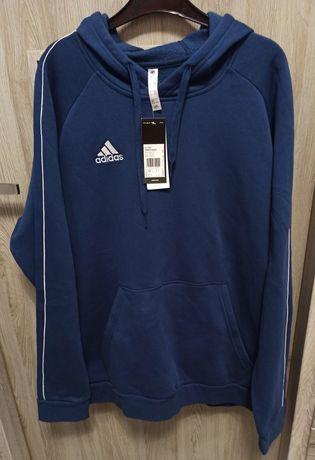 Granatowa bluza Adidas z kapturem rozmiar XL nowa