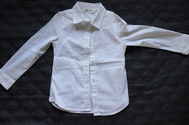 Koszula dziewczęca h&m biała rozm. 104